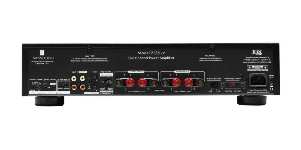 Parasound NEWCLASSIC 2125 V2 Amplifiocador potencia 125 125 watios conexiones