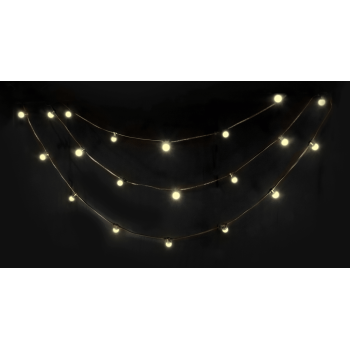 Ibiza Light LED STRING-WH Guirnalda Luminosa de 20 Led Blanco Calido IP44 10M