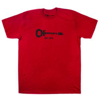 Charvel T-Shirt para Hombre Guitar Logo Red Talla XXL