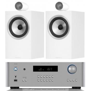 ROTEL RA1572SI+BW705 White Conjunto Hi-fi