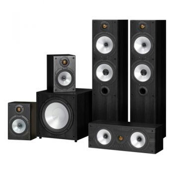 MONITOR AUDIO Kit Home Cinema, MR4 + MR1 + MRCENTER + MRW10, POWER 4