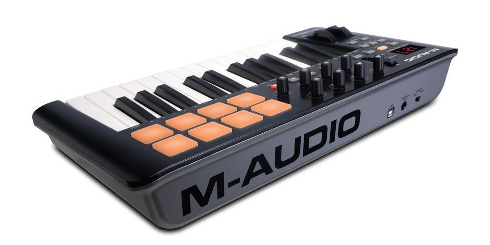 m audio oxygen25 mk4 teclado conexiones
