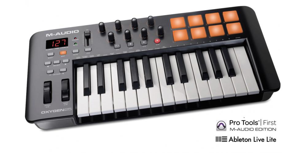 m audio oxygen25 mk4 teclado