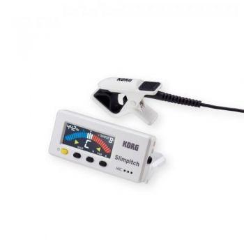 KORG SLIMPITCH SLM-1CM PW PEARL WHITE  Afinador Digital