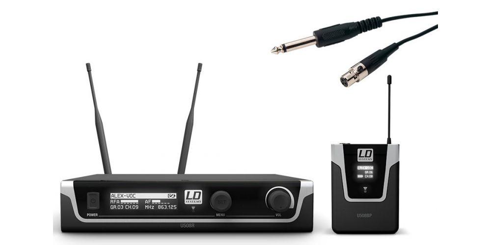 LD SYTEMS U508 BPG Micrófono Inalámbrico de Instrumento