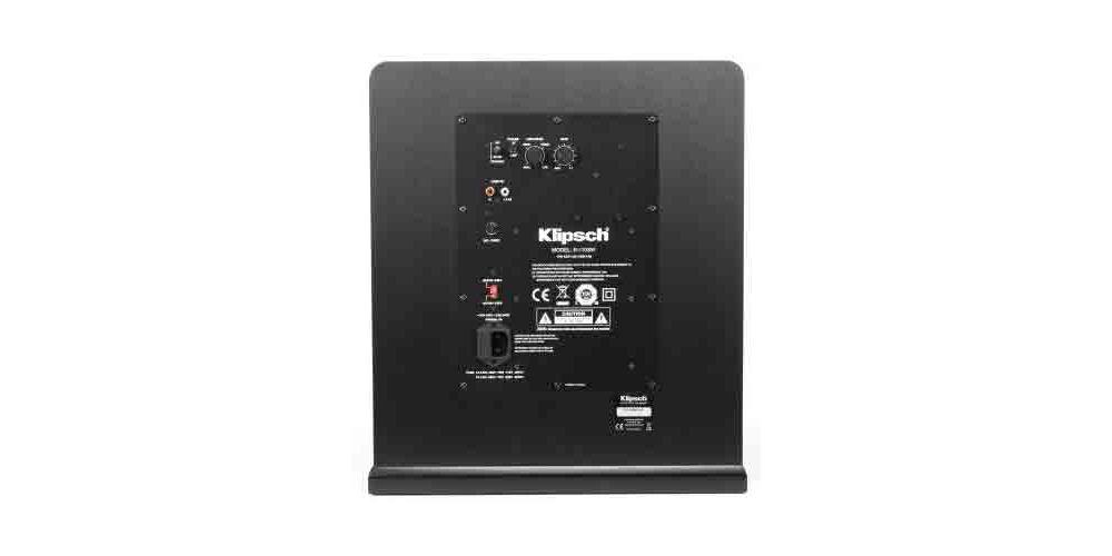 klipsch R 110SW conexiones panel trasero