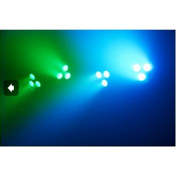 max 150585 LED PAR BAR con 4 focos 3x 4-en-1 RGBW