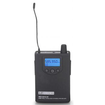 LD Systems MEI 100 G2 BPR B 5 Receptor para Sistema de Monitoraje In-Ear LDMEI100G2 Banda 5 584 - 607 MHz