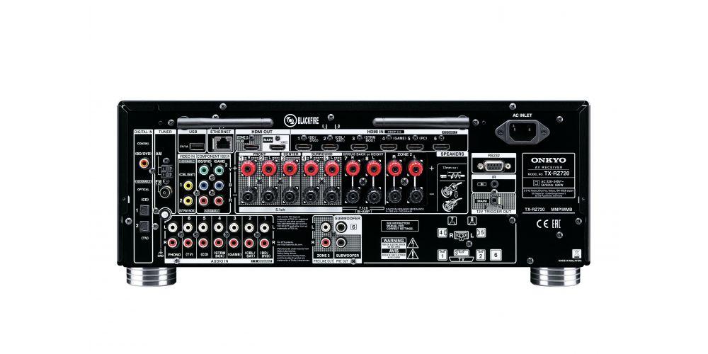 Onkyo TX RZ720 black conexiones