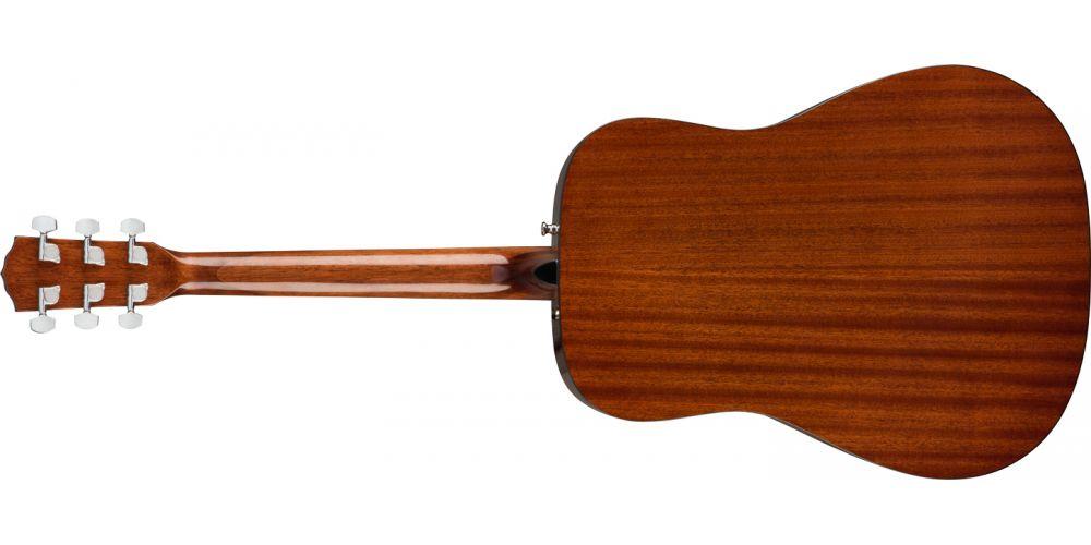 fender cd60 s natural acustica guitarra back