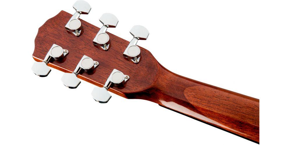 fender cd60 s natural acustica guitarra clavijero back