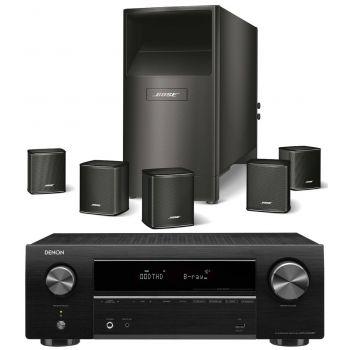 DENON AVR-X550 BK+BOSE AM6 V Black Conjunto Home Cinema