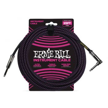 ERNIE BALL 6068 CABLE INSTRUMENTO TRENZADO JACK-JACK SA Negro / Púrpura