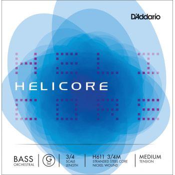 D´addario H611 Cuerda Suelta Contrabajo Helicore Orquestral Sol (G) 3/4 Tensión Media