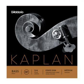 D´addario KS610 Juego de cuerdas Kaplan Solo para contrabajo 3/4, tensión media