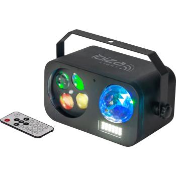 Ibiza Light COMBI LED 20 Efecto de Iluminacion 3-EN-1 Astro-Strobo y Gobo Beam