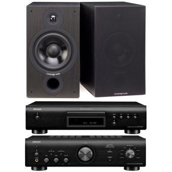 Denon PMA-600 NE Black+DCD-600 Black+Cambridge Audio SX-60 Black Conjunto Audio