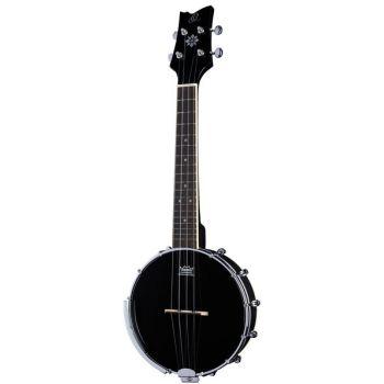 Ortega OUBJ100 SBK Banjo Ukelele Satin Black