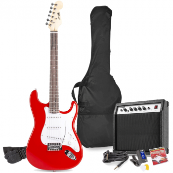 max Gig Kit Guitarra Eléctrica Rojo con Amplificador 173224