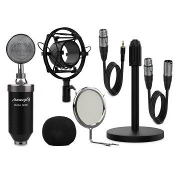 Audibax Dublin 3000 Black Pack Micrófono Studio Gran Diafragma