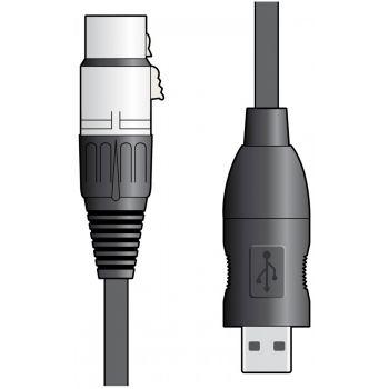 Chord XLRF-USB2 - Cable Convertidor de XLR a USB