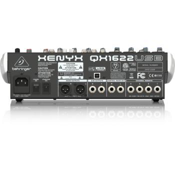 BEHRINGER QX1622USB XENYX Mezclador para Directo