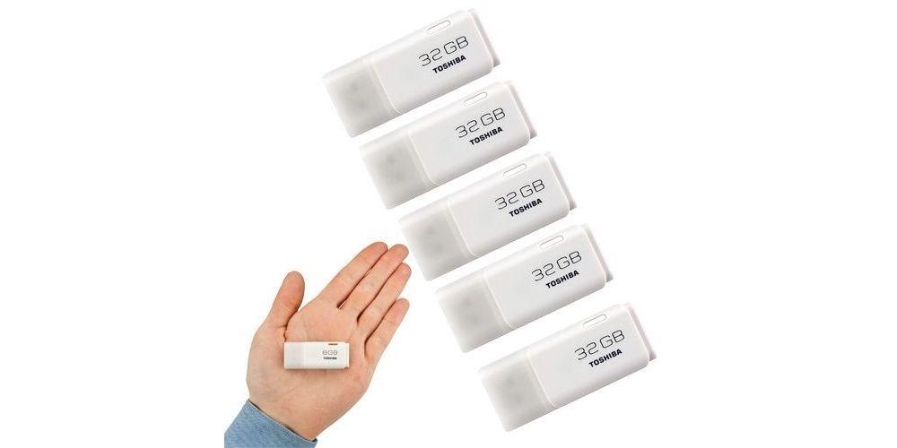 TOSHIBA USB 32GB THNU32HAYWHT-6 (5 Unidades)
