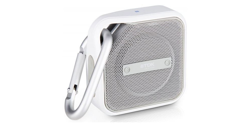 tdk a12bk altavoz bluetooth blanco intemperie lateral