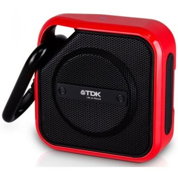 tdk a12bk altavoz bluetooth negro rojo intemperie mosqueton