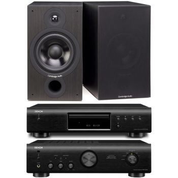 DENON PMA-520-BK+DCD520-BK+Cambridge SX-60 Black