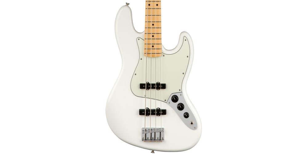 fender player jazz bass mn white