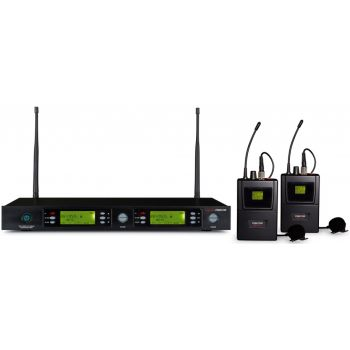 Fonestar MSH-892-823 Micrófono inalámbrico doble petaca UHF
