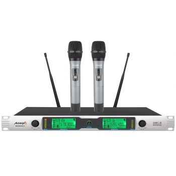 Audibax Missouri Rack A Micrófono Inalámbrico UHF Doble de Mano Rack ( REACONDICIONADO )