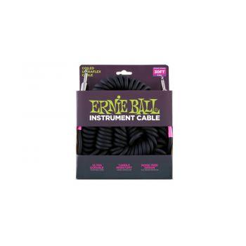 Ernie Ball 6044 Cable Ultraflex Espiral Jack a Jack 7.62 Metros Negro