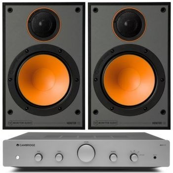 CAMBRIDGE AXA25+Monitor Audio 100 Black Conjunto audio