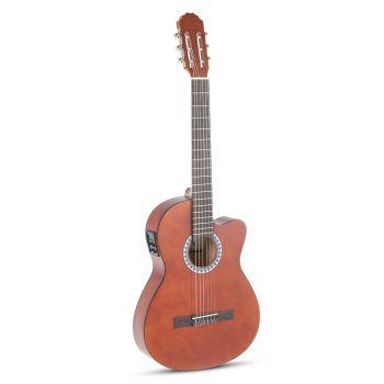 Gewa PS510190 Guitarra Clásica ElectroAcústica Basic E-Acústica. Nogal. Cuerpo Delgado