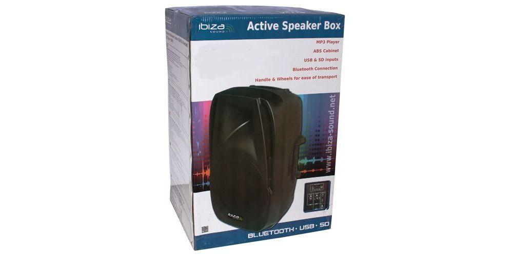 altavoz activo ibiza sound bt8a embalaje