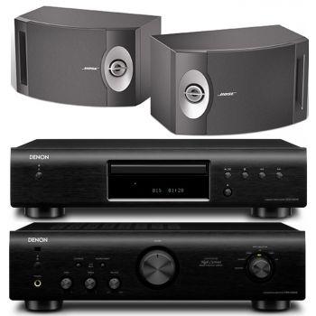 DENON Equipo HiFi PMA520 BK + DCD520 BK + BOSE 201 Altavoces HiFi