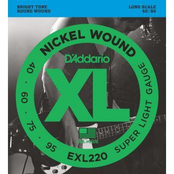 D Addario EXL-220 (040-095) Cuerdas Bajo