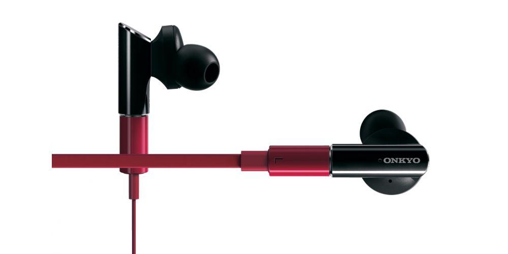 onkyo iefc300 r auricular negro cable rojo
