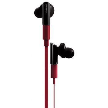 ONKYO IEFC300-R Auricular Negro, Cable Rojo
