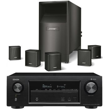 DENON AVR-X1400+Bose AM-6V BK