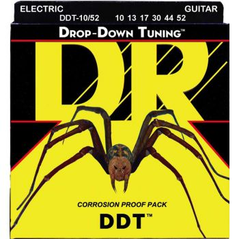 Dr Strings DDT-10/52 DROP-DOWN TUNING™ Nickle Plated Electric 010-052