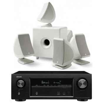 DENON AVR-X1300-Focal Sib-Cub3 5.1 White