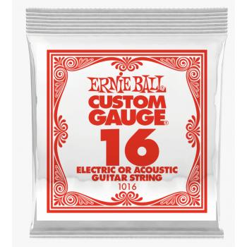 Ernie Ball 1016 Slinky Cuerda Para Guitarra Electrica Plana 0.16