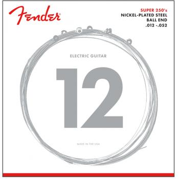 Fender Cuerdas de Guitarra Super 250 Acabado Niquel Plateado 250H