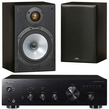 Pioneer A-20 K + Monitor Audio MR1 Black Conjunto Audio