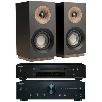 ONKYO A-9010 B+C7030 B+Jamo S801 Black, Conjunto Audio