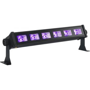 Ibiza Light Led UV BAR 6 Barra de Led UV 6 x 3w