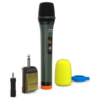 Audibax Missouri Free Hand UHF Micrófono Mano Inalámbrico UHF con Receptor a Pilas o Powerbank